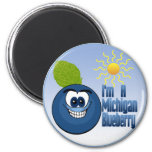 Michigan Blueberry Fridge Magnets