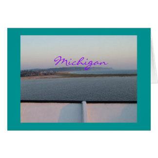 Michigan Bluffs Card