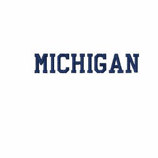 Michigan bordó azules cielos largos de la manga de