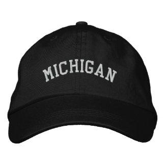 Michigan bordó negro ajustable del casquillo gorra de beisbol