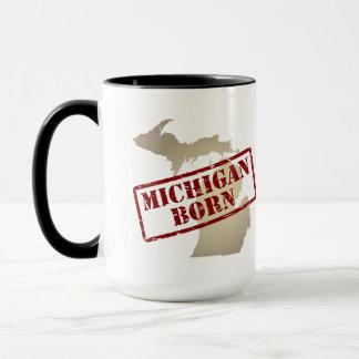 Michigan Born - Stamp on Map Mug