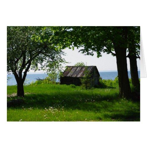 Michigan Cabin Greeting Card - Blank Inside