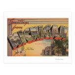Michigan (Capital del Estado/flor) Tarjeta Postal