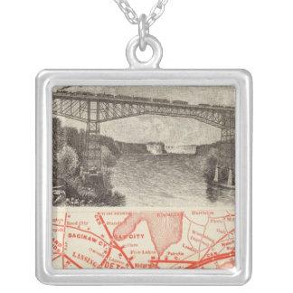 Michigan Central Railroad Square Pendant Necklace
