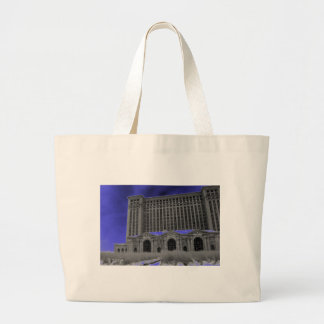 Michigan Central Station, Detroit Large Tote Bag