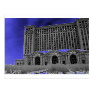 Michigan Central Station, Detroit Postcard
