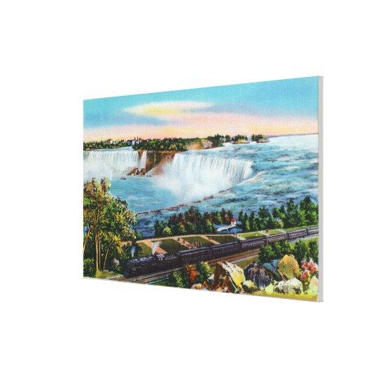 Michigan Central Train View of Niagara Falls Canvas Print