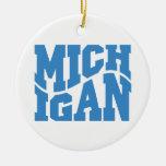 Michigan Ceramic Ornament