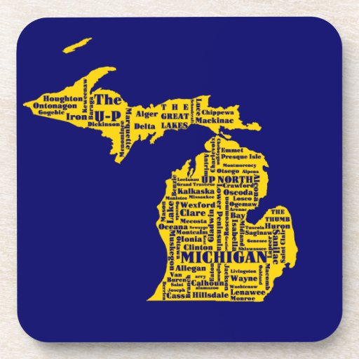 Michigan Cities Beverage Coasters