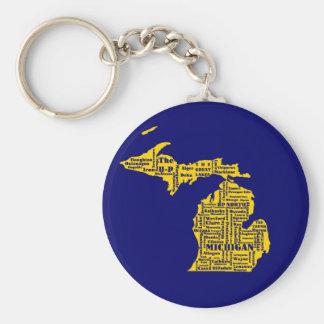 Michigan Cities Keychain