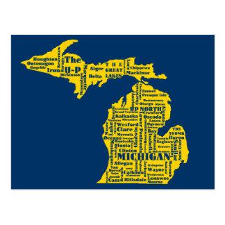 Michigan Cities Postcard