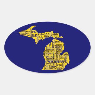 Michigan Cities Oval Sticker