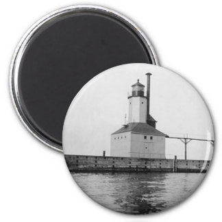Michigan City East Lighthouse 2 Inch Round Magnet