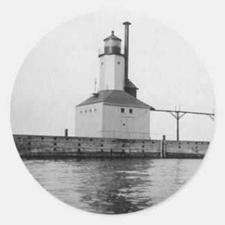 Michigan City East Lighthouse Classic Round Sticker