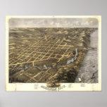 Michigan City, Indiana 1869 Poster
