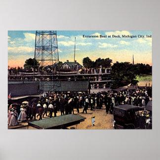 Michigan City Indiana Dock area 1915 Poster