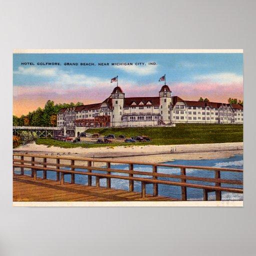 Michigan City Indiana Hotel Golfmore Poster
