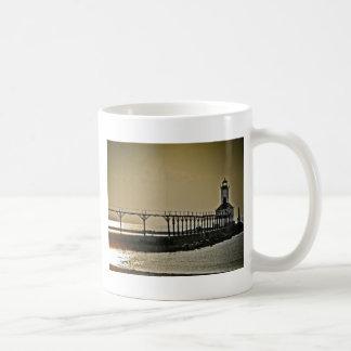 Michigan City Indiana Lighthouse Coffee Mug