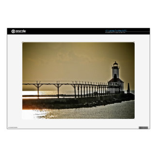 Michigan City Indiana Lighthouse Decal For Laptop