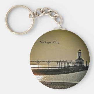 Michigan City Indiana Lighthouse Keychain