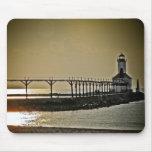 Michigan City Indiana Lighthouse Mouse Pad