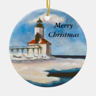 Michigan City Light Christmas Ornament