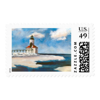 Michigan City Light Postage Stamps