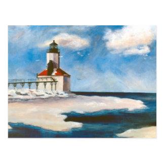 Michigan City Light Postcard