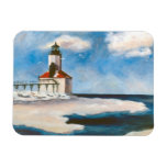 Michigan City Lighthouse Flexible Magnets