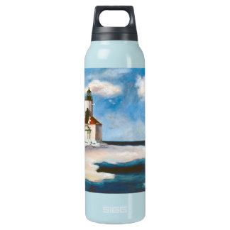 Michigan City Lighthouse Insulated Water Bottle