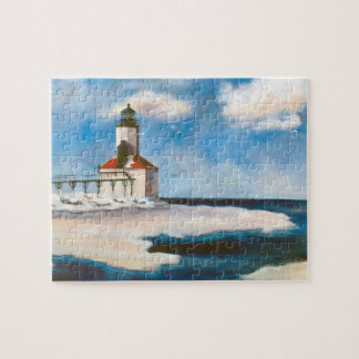 Michigan City Lighthouse Jigsaw Puzzles
