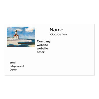 Michigan City Lighthouse Return Address Labels Double-Sided Standard Business Cards (Pack Of 100)