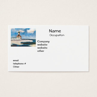 Michigan City Lighthouse Return Address Labels Business Card