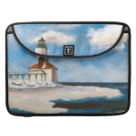 Michigan City Lighthouse Sleeves For MacBook Pro