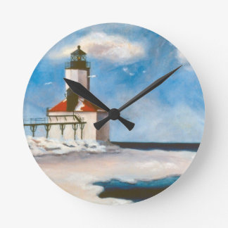 Michigan City Lighthouse Wall Clock