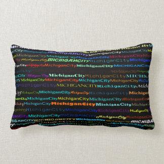 Michigan City Text Design I Lumbar Pillow