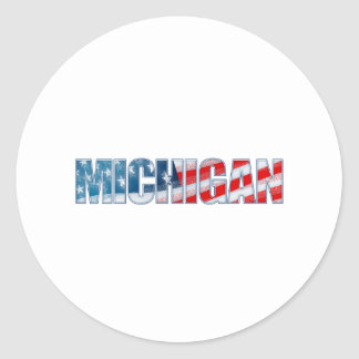 Michigan Classic Round Sticker