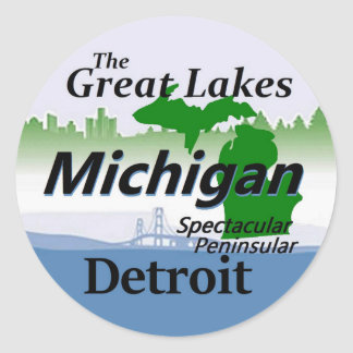 MICHIGAN CLASSIC ROUND STICKER