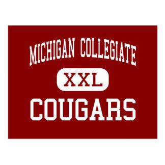 Michigan Collegiate - Cougars - High - Warren Postcards