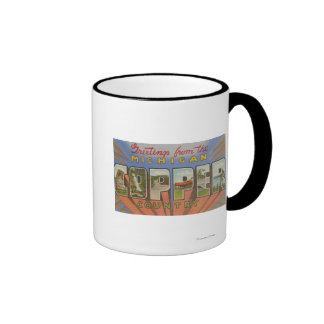 Michigan (Copper County) - Large Letter Scenes Ringer Mug