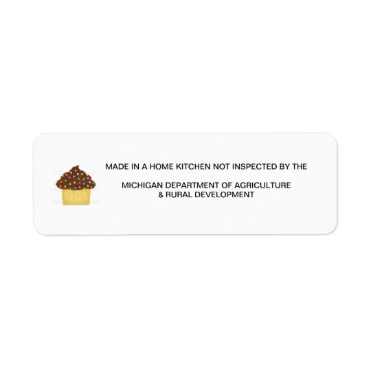 Great Michigan Cottage Food Law Label