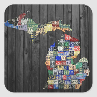 Michigan Counties License Plate Art Sticker