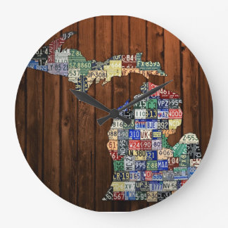 Michigan Counties License Plate Map Clock