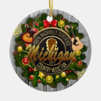 Michigan Country Music Fan Christmas Ornament