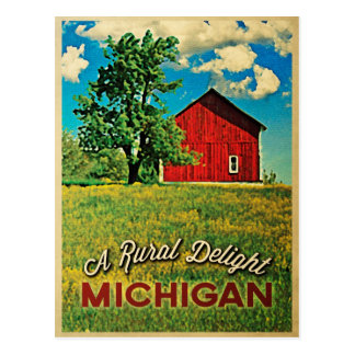 Michigan Country Red Barn Post Cards