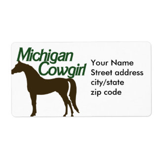 Michigan Cowgirl Shipping Label