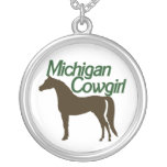 Michigan Cowgirl Personalized Necklace