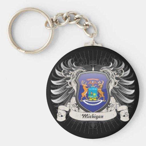 Michigan Crest Key Chain