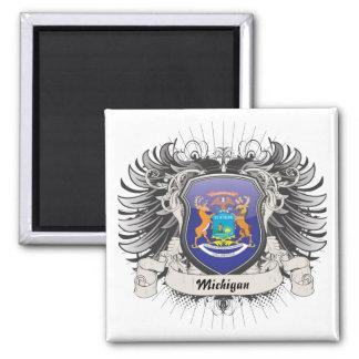 Michigan Crest Refrigerator Magnet