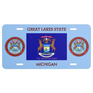 Michigan Custom Front License Plate